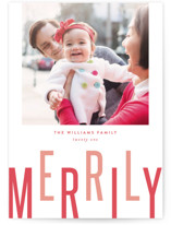 Merrily Letterpress Holiday Photo Cards