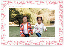 Holiday Confetti Letterpress Holiday Photo Cards