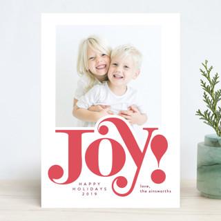 Big Joy! Letterpress Holiday Photo Cards