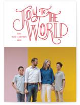 Joyful World Letterpress Holiday Photo Cards