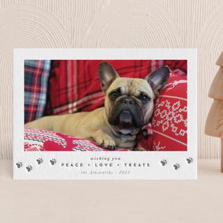 Peace + Love + Treats Letterpress Holiday Photo Cards