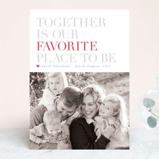 Together Letterpress Holiday Photo Cards