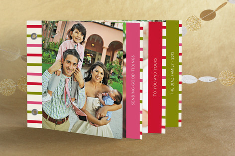 happy stripes Holiday Minibook™ Cards
