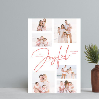Joyful Script Montage Holiday Petite Cards