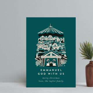 Mod Bethlehem Manger Holiday Petite Cards