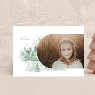 snow mountains Holiday Petite Cards