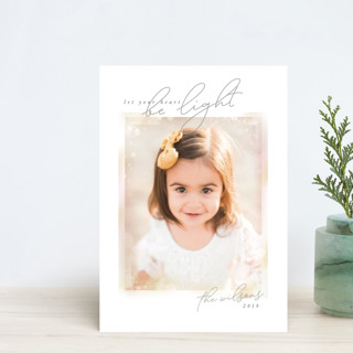 Bokeh Frame Holiday Petite Cards