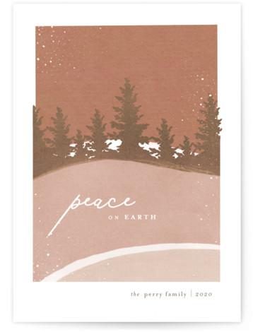 Fallen Snow Holiday Non-Photo Cards