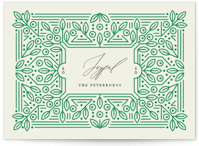 Ornamental Holiday Non-Photo Cards