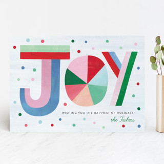 Hand Lettered Joy Holiday Cards