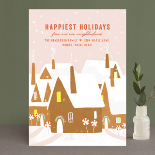 Gingerbread Village Holiday Cards