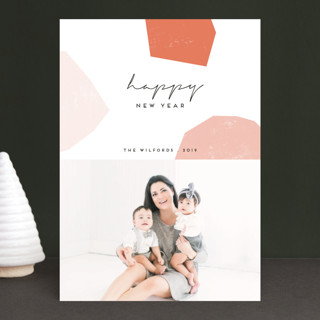 modular shapes New Year Photo Cards