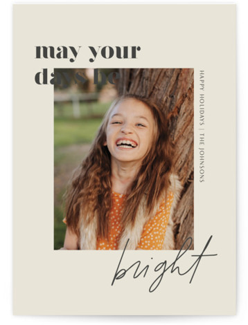 Brighter Days Ahead New Year's Photo Cards