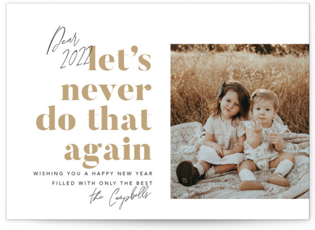 Never Again New Year's Photo Cards