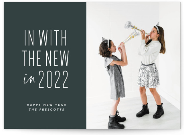 One and done New Year's Photo Cards