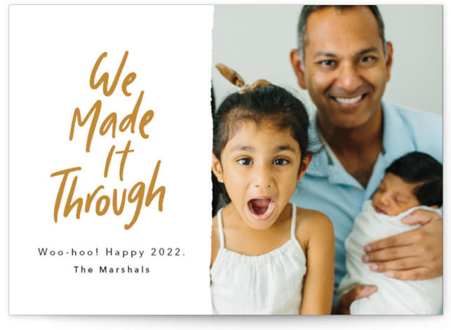 We Made It! New Year's Photo Cards