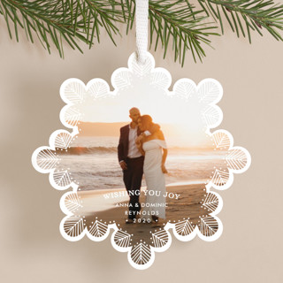 Delicate Lace Holiday Ornament Cards