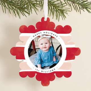 bright snowflake Holiday Ornament Cards