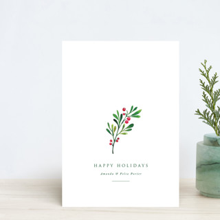 Simple Holly Holiday Postcards