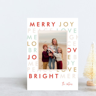 Modern Type Holiday Postcards