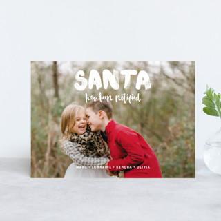 Santa Has Been Notified Holiday Postcards