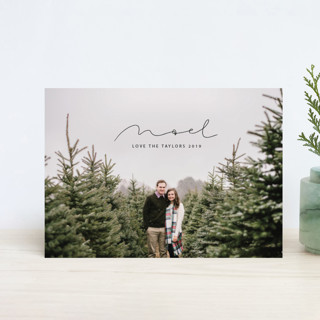 minimal noel Holiday Postcards