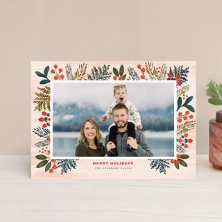 Festive Forest Flora Holiday Postcards