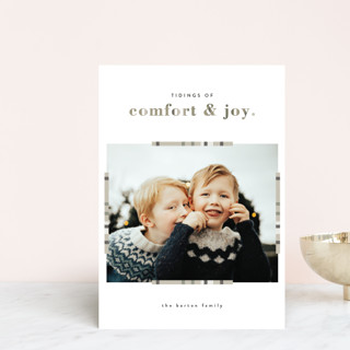 Plaid Comfort Holiday Postcards