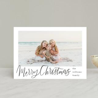 Minimal Lettered Christmas Holiday Postcards