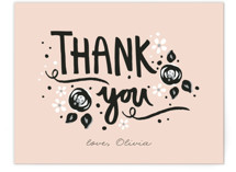 Sugar and Spice Flat Baby Shower Thank You Cards