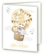 baby balloon ride Foil-Pressed Baby Shower Thank You Cards