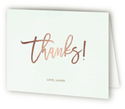 Mom-osa Brunch Foil-Pressed Baby Shower Thank You Cards