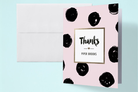 Bold Dots Baby Shower Thank You Cards