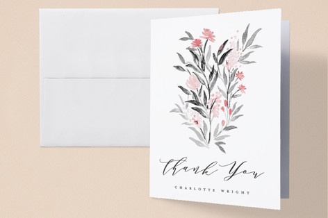 Little Flowers Baby Shower Thank You Cards