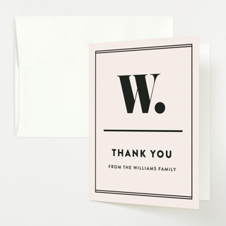 Numero Baby Shower Thank You Cards