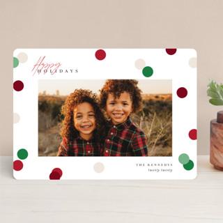 Christmas Dots Holiday Photo Cards