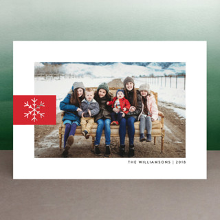 Snowflake Tab Holiday Photo Cards
