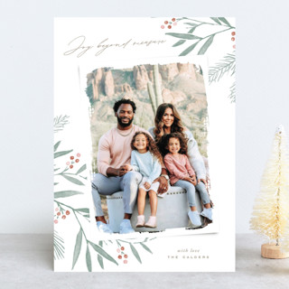 Organic Harmony Holiday Photo Cards