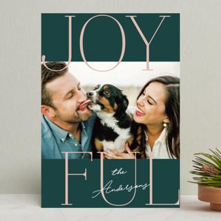 Joyful Serif Holiday Photo Cards