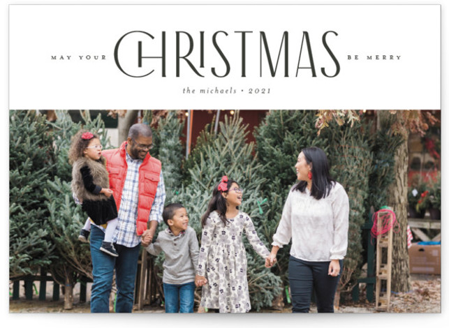 PLAYFUL TYPE Holiday Photo Cards