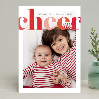 Brightly Stamped Cheer Holiday Photo Cards