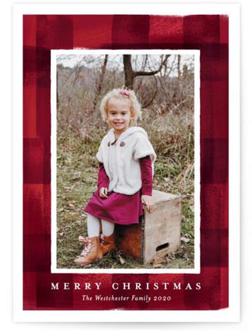 buffalo check frame Holiday Photo Cards