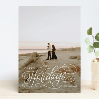Elegant Script Holiday Photo Cards