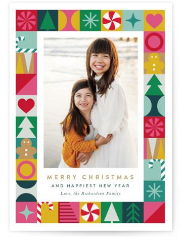 Cheerful Joy Holiday Photo Cards