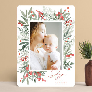 Berry Frame Holiday Photo Cards