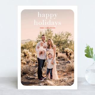 rosé overlay Holiday Photo Cards