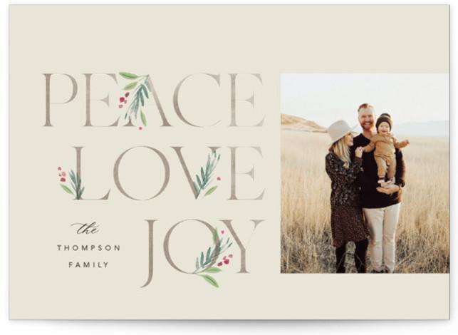 Botanical Swash Holiday Photo Cards