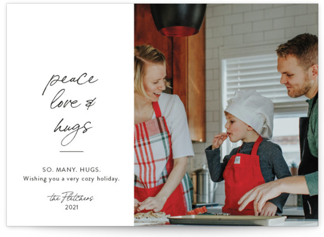 Peace Love and Cookies Holiday Photo Cards