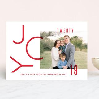 Modern Joy Holiday Photo Cards