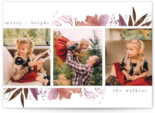 Fresh Blooming Frame Holiday Photo Cards